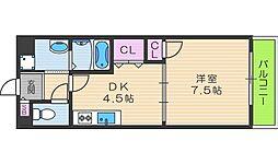 寺田町ハイツ[307号室]の間取り