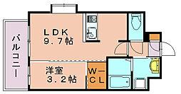 ネストピア博多祇園[3階]の間取り