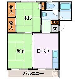 静岡県富士市加島町の賃貸アパートの間取り