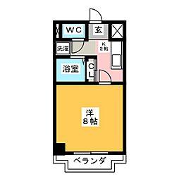 シャトー横山弐番館[7階]の間取り