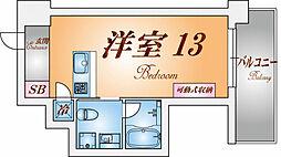 兵庫県神戸市兵庫区会下山町2丁目の賃貸マンションの間取り