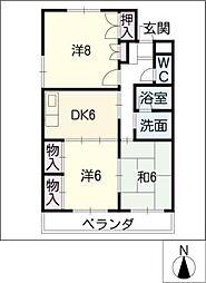 メリーハウス[4階]の間取り