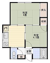 海楽荘[101号室]の間取り