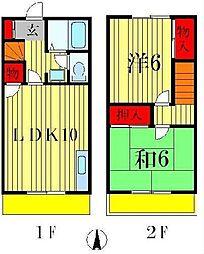 [テラスハウス] 千葉県松戸市下矢切 の賃貸【/】の間取り