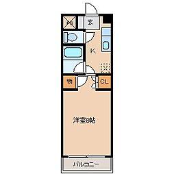 マンションリーフ[2階]の間取り