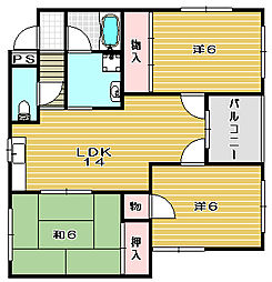 リヴラ寿[2階]の間取り