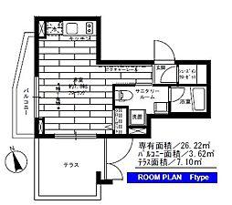 ステージファースト世田谷若林[1階]の間取り