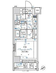 東京メトロ半蔵門線 水天宮前駅 徒歩8分の賃貸マンション 3階1Kの間取り