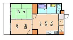 シャトレ冨永5[1階]の間取り