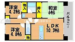 ライオンズマンション野田公園[8階]の間取り