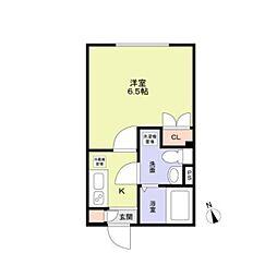 東京メトロ東西線 早稲田駅 徒歩8分の賃貸マンション 4階1Kの間取り
