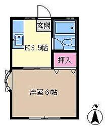 ハイツアキバ[102号室]の間取り