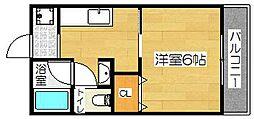 美沢コーポ[102号室]の間取り