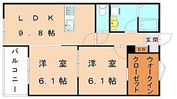 仮)福津中央アパート[1階]の間取り