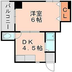 ライフモア博多[4階]の間取り
