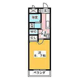サンテラス東本郷[1階]の間取り