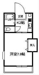 神奈川県小田原市下堀の賃貸アパートの間取り