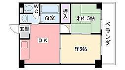 本町アパートメント[502号室]の間取り