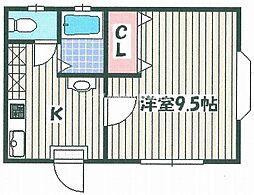 デシオ笹が瀬[3階]の間取り