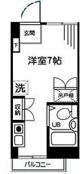 神奈川県秦野市鶴巻北2丁目の賃貸マンションの間取り