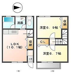 ミモザMI[2階]の間取り