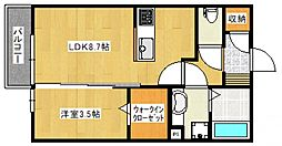 セゾンフィール[1階]の間取り