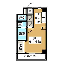 アメニティ萩野町[4階]の間取り