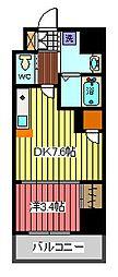 アクシーズタワー川口VIII[2階]の間取り