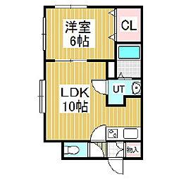 ピュアルース[2階]の間取り