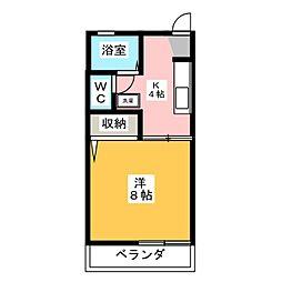 フォーブル村松II[2階]の間取り