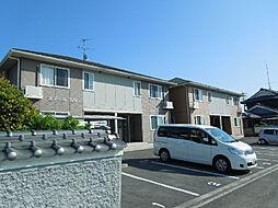 愛媛県東温市下林の賃貸アパートの外観