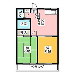 エステートピア88[2階]の間取り