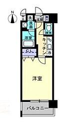 岡山電気軌道清輝橋線 東中央町駅 徒歩3分の賃貸マンション 8階1Kの間取り