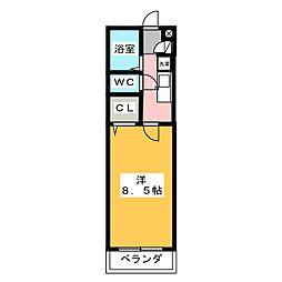 愛知県名古屋市港区正保町6丁目の賃貸アパートの間取り