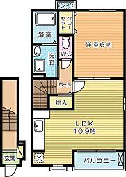 エレガントサキタB棟[2階]の間取り