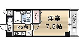 四ノ宮コート[206号室号室]の間取り