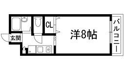 兵庫県宝塚市泉町の賃貸マンションの間取り
