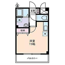 Mフラット[1階]の間取り