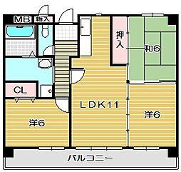 コンプリーションV[2階]の間取り