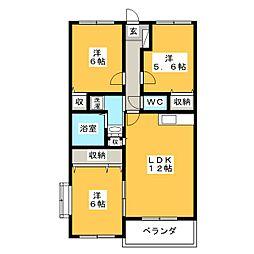 レアールパレスA[2階]の間取り