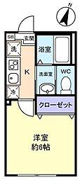 勝田台PD II[1階]の間取り