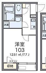 東京都世田谷区喜多見2丁目の賃貸アパートの間取り