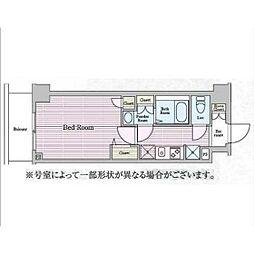 神奈川県横浜市鶴見区鶴見中央3丁目の賃貸マンションの間取り