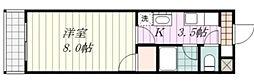 愛媛県松山市余戸中6丁目の賃貸マンションの間取り