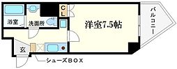 ORYZA肥後橋 8階1Kの間取り