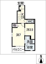 T−maison平安[1階]の間取り