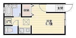 White Wing[102号室]の間取り