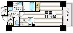 大阪府大阪市中央区内平野町3丁目の賃貸マンションの間取り