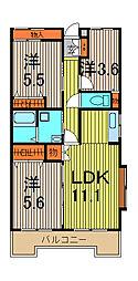 グランドゥールII蕨NAGAI[3階]の間取り