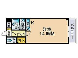 大名柴田ビル[4階]の間取り